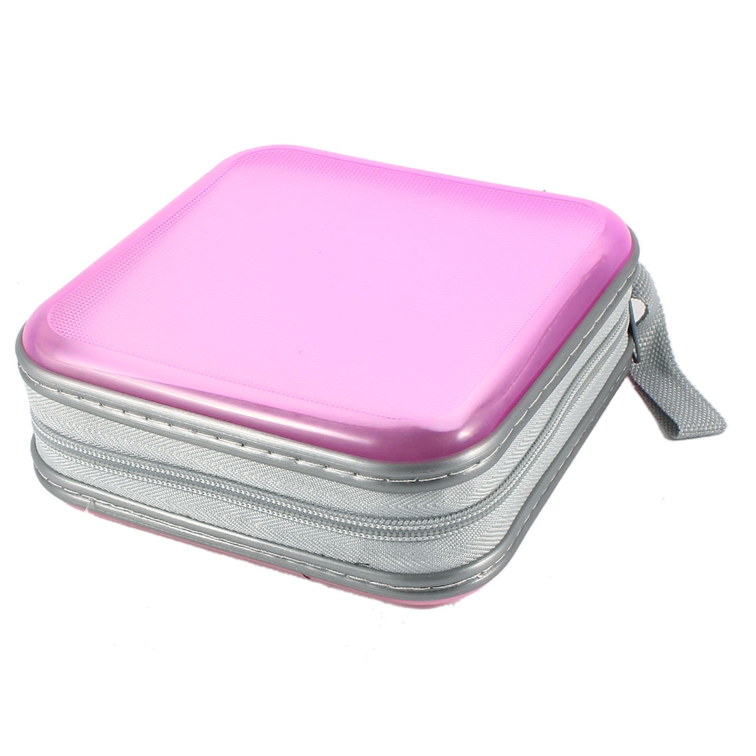 Square Shape 40 Disc CD DVD VCD Discs Sleeve Holder Storage Case Album Box Pink