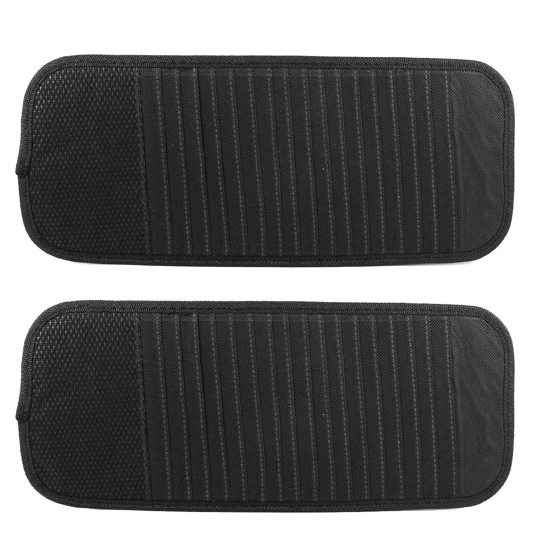 Car Vehicle 18 Slots CD DVD Disk Card Visor Case Holder Clipper Bag Black 2pcs