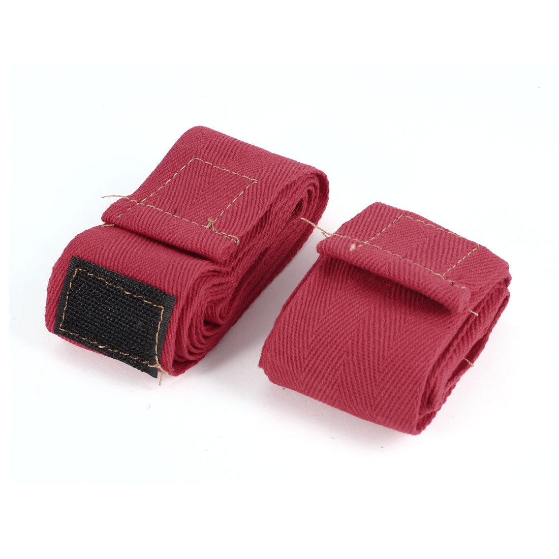 Pair Detachable Closure Red Boxing Hand Wraps Protectors 190cmx5cm