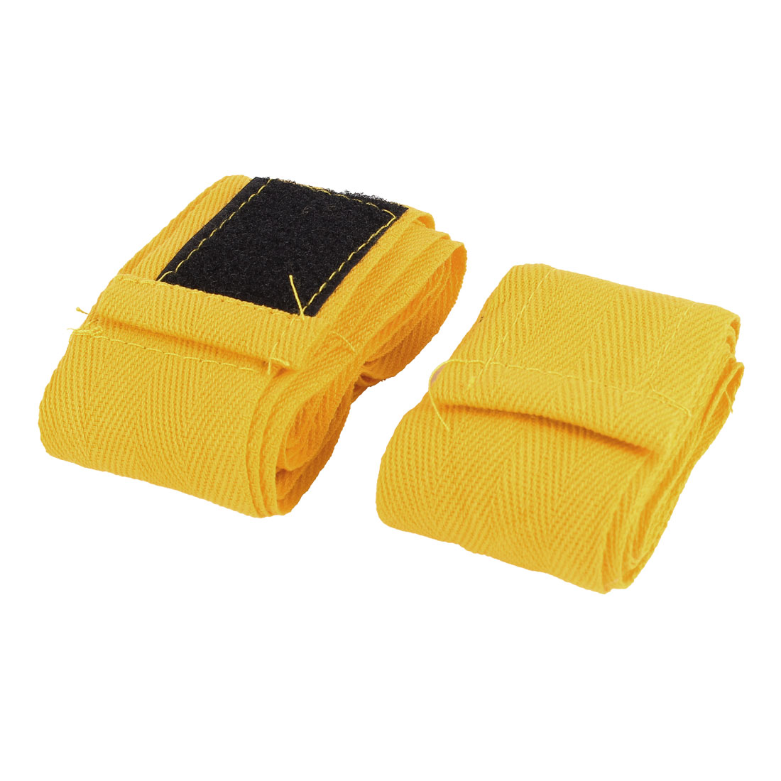 6.3Ft Long Yellow Cotton Polyester Boxing Hand Wrap Bandage Pairs