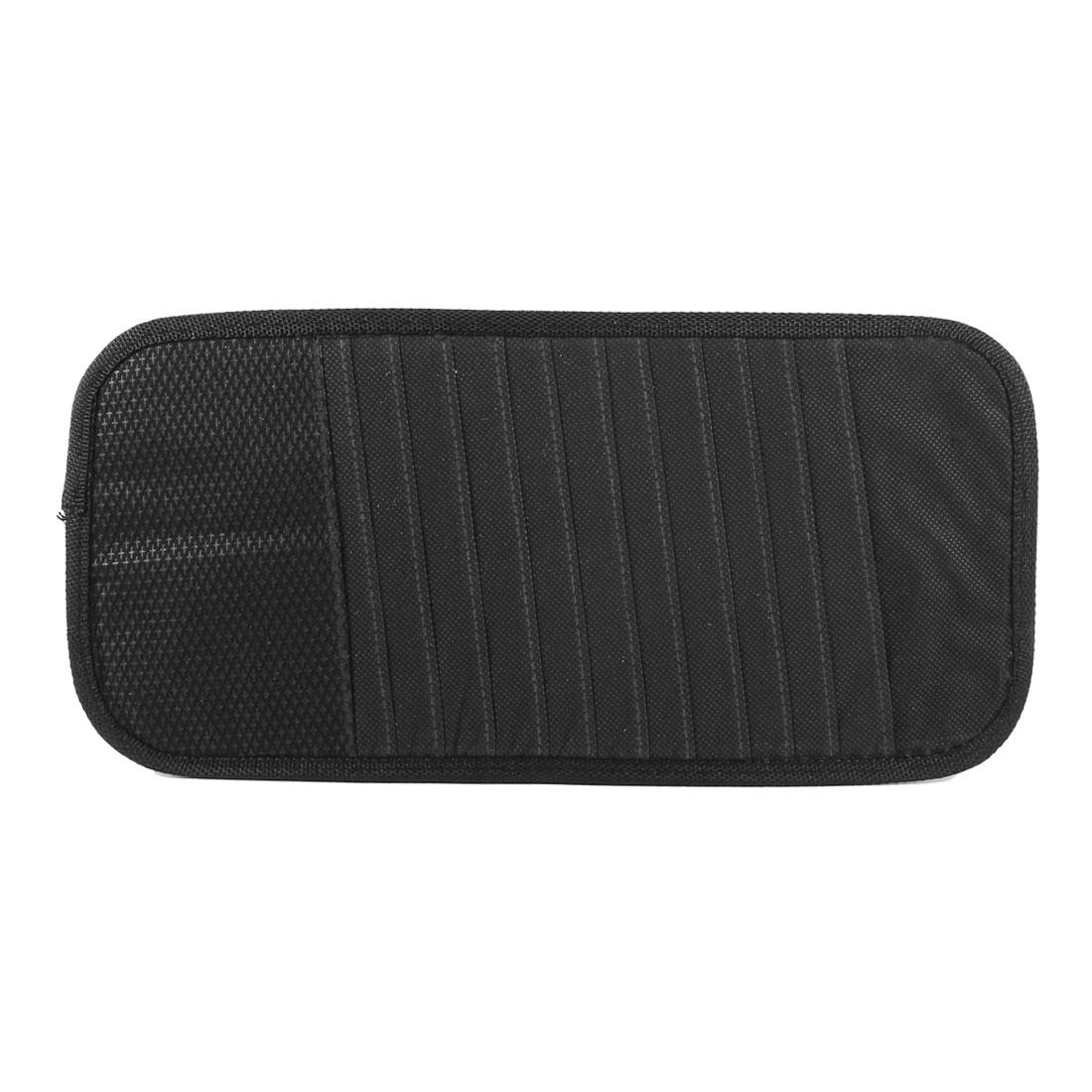 Vehicle Black Nylon Non Woven 12 Capacity CD DVD Discs Holder Bag Organizer