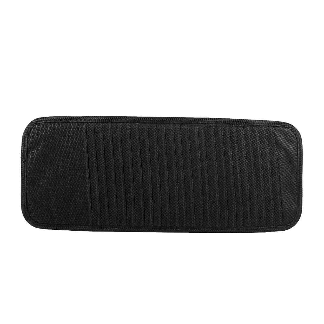 Vehicle Car Sun Visor 24 Slots CD DVD Holder Bag Case Container Black