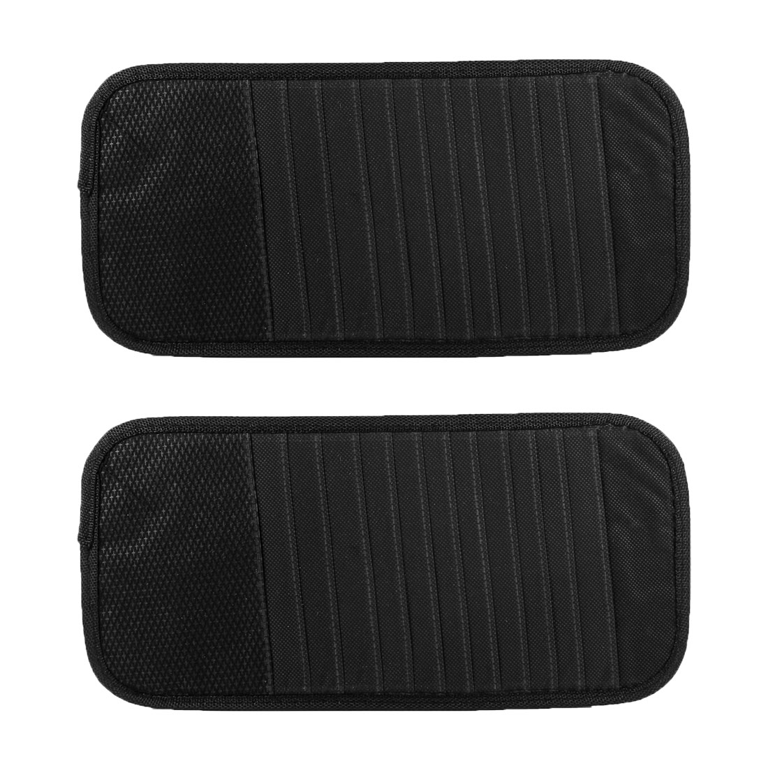 2pcs Balck Sun Visor 12 Compartments CD DVD Holder Case Cotaniner for Car Auto
