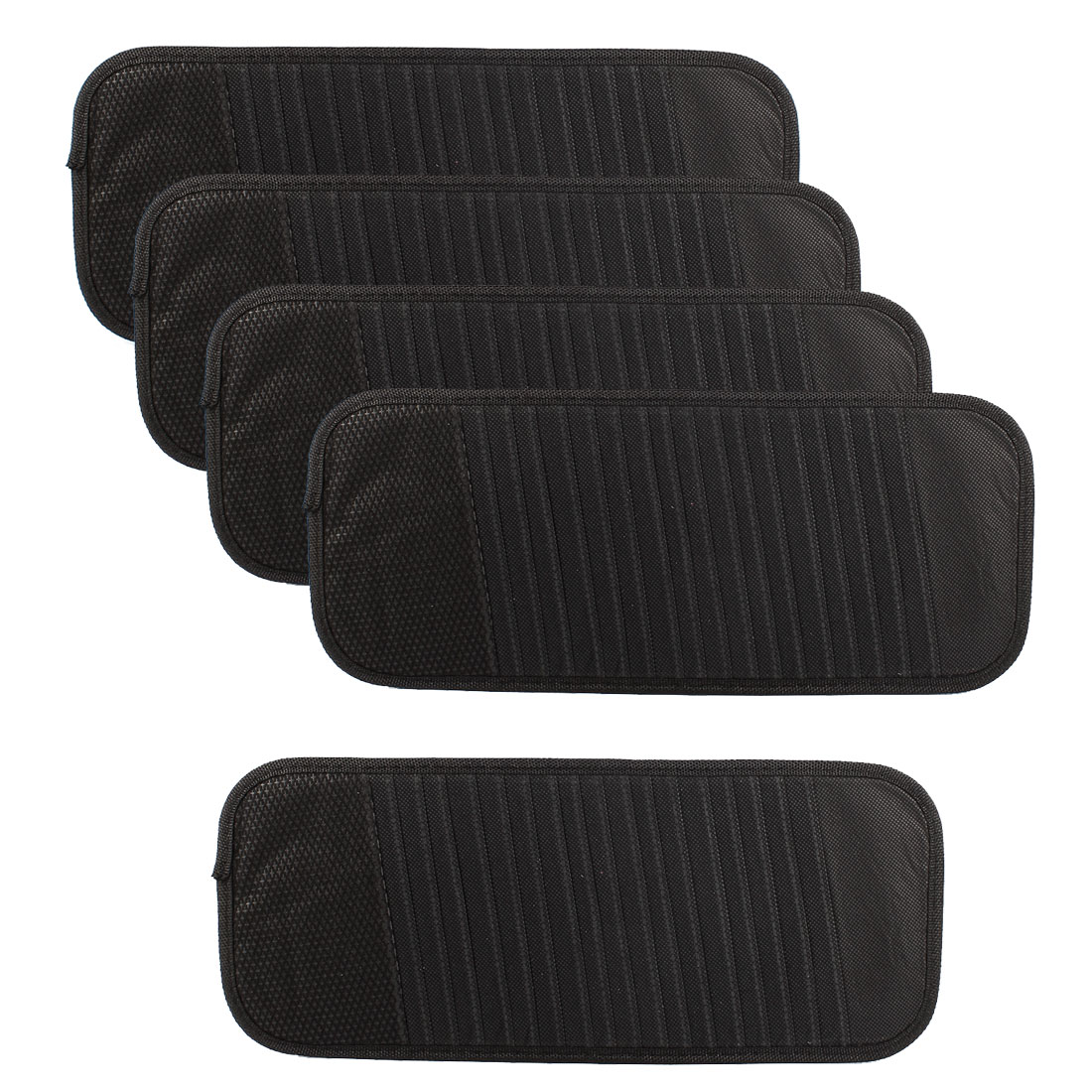 Vehicle 18 CD DVD Disk Card Visor Case Holder Clipper Bag Pouch Black 5pcs