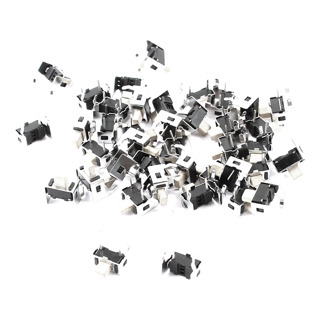 40pcs DIP 2 Terminals Right Angle Momentary SPST Push Button Tactile Switch 8x7x7mm