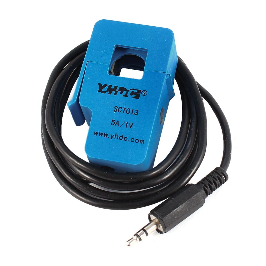 SCT-013-005 1M Long 3.5mm Output Cable Split-core Current Transformer 5A 1V