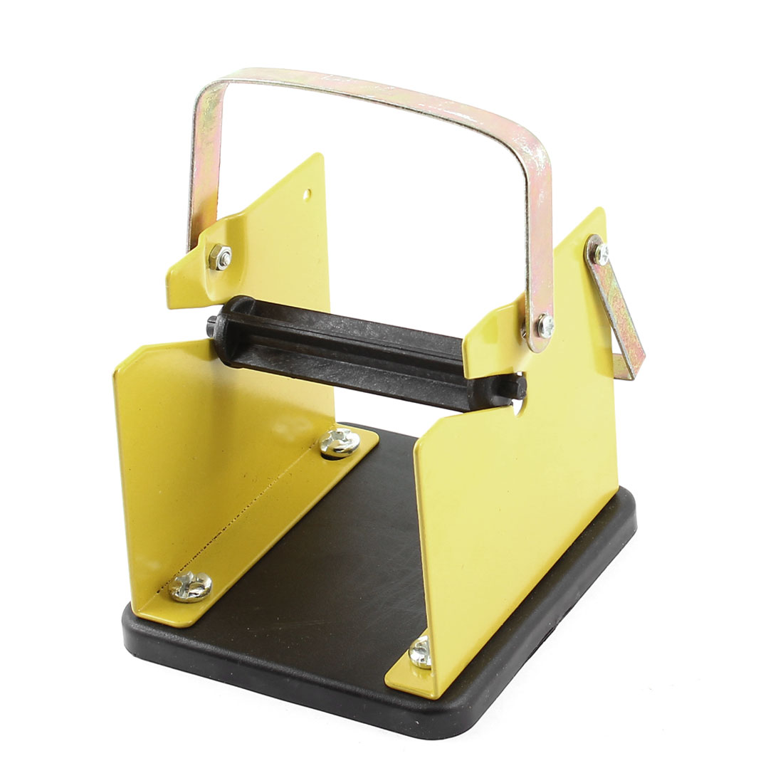 Yellow Black Metal Solder Wire Stand Holder w Reel Spindle