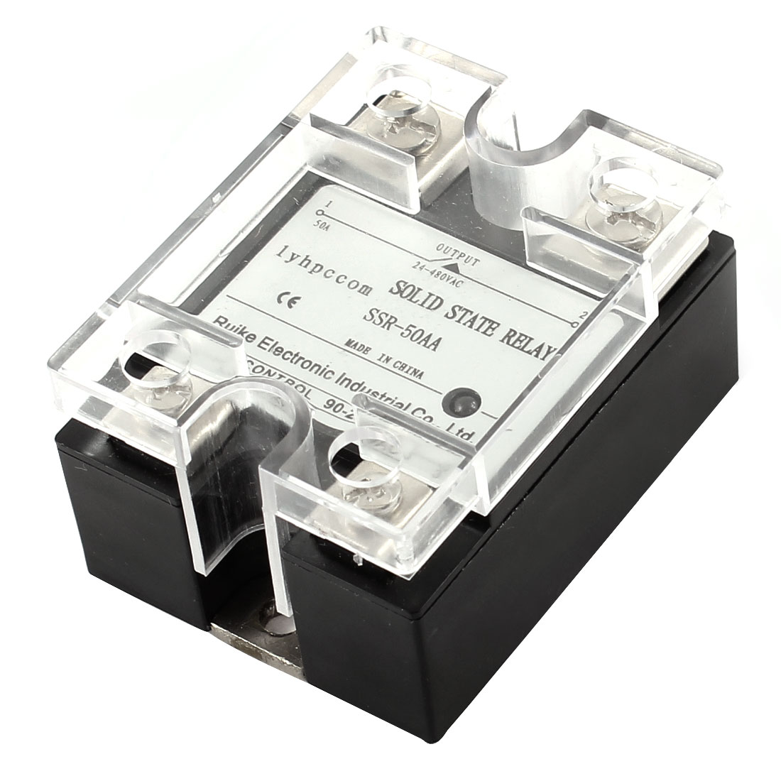 Temperature Contoller 4 Pin AC 24-480V to AC 90-280V 50A Solid State Relay
