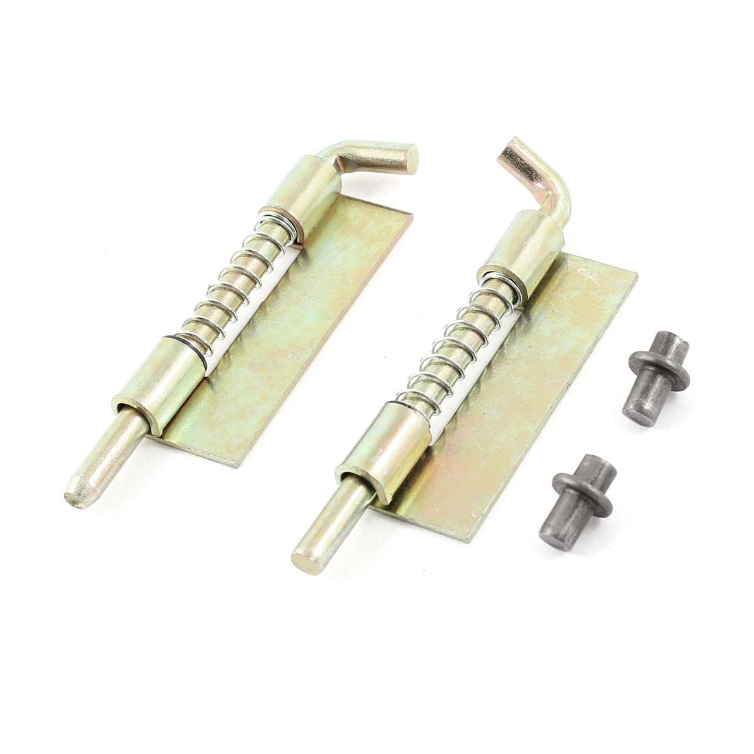 """Hardware Door Safety 3.5"""" Long Metal Spring Latch Lock Tool 2 Pcs"""