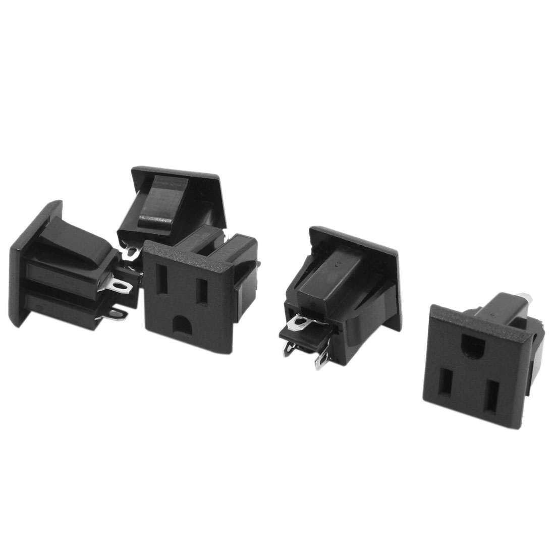 AC 125V 15A US Plug Socket PCB Board Power Supply Adapter 5Pcs