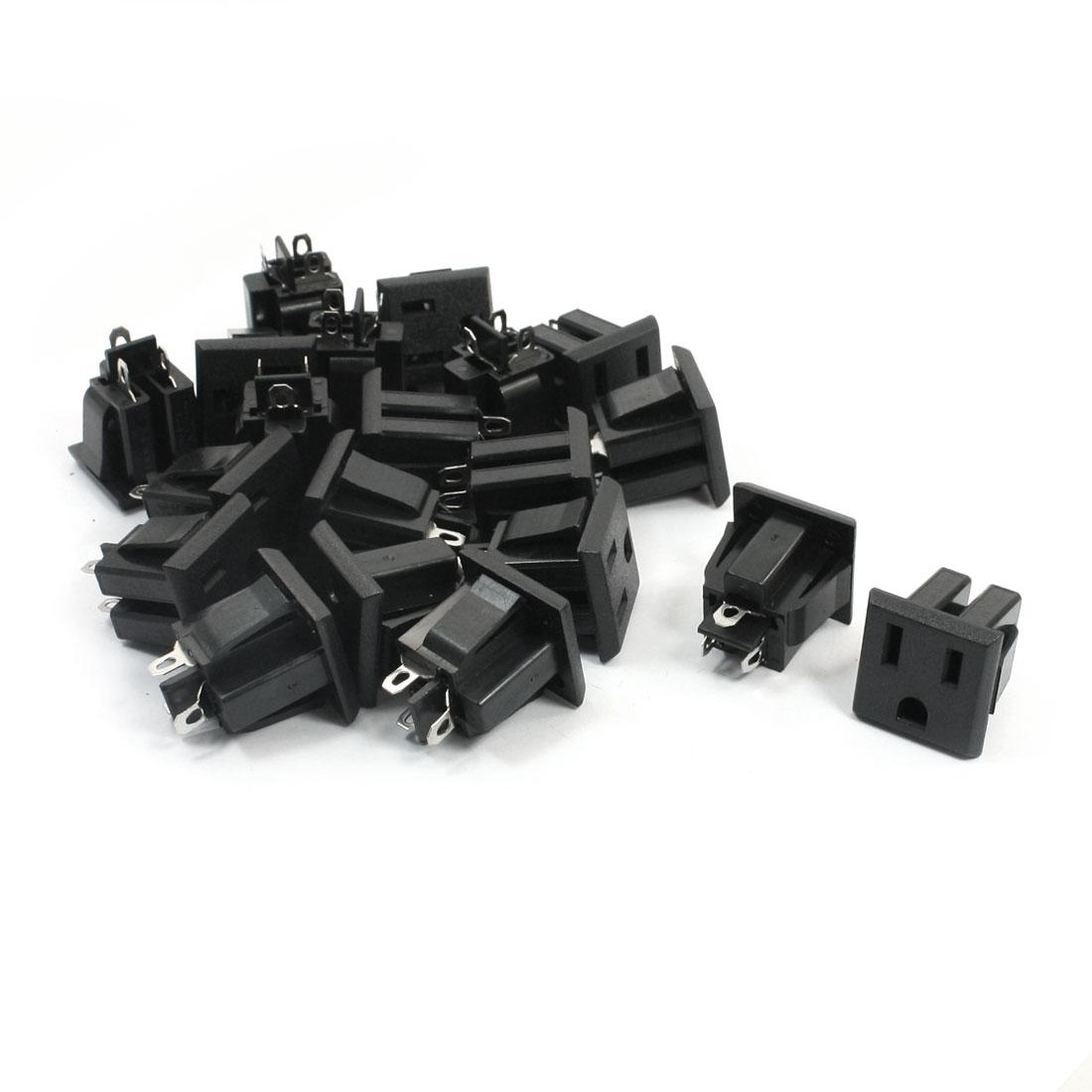 20Pcs US Plug Socket Soldering Power Adapter Connector AC 125V 15A