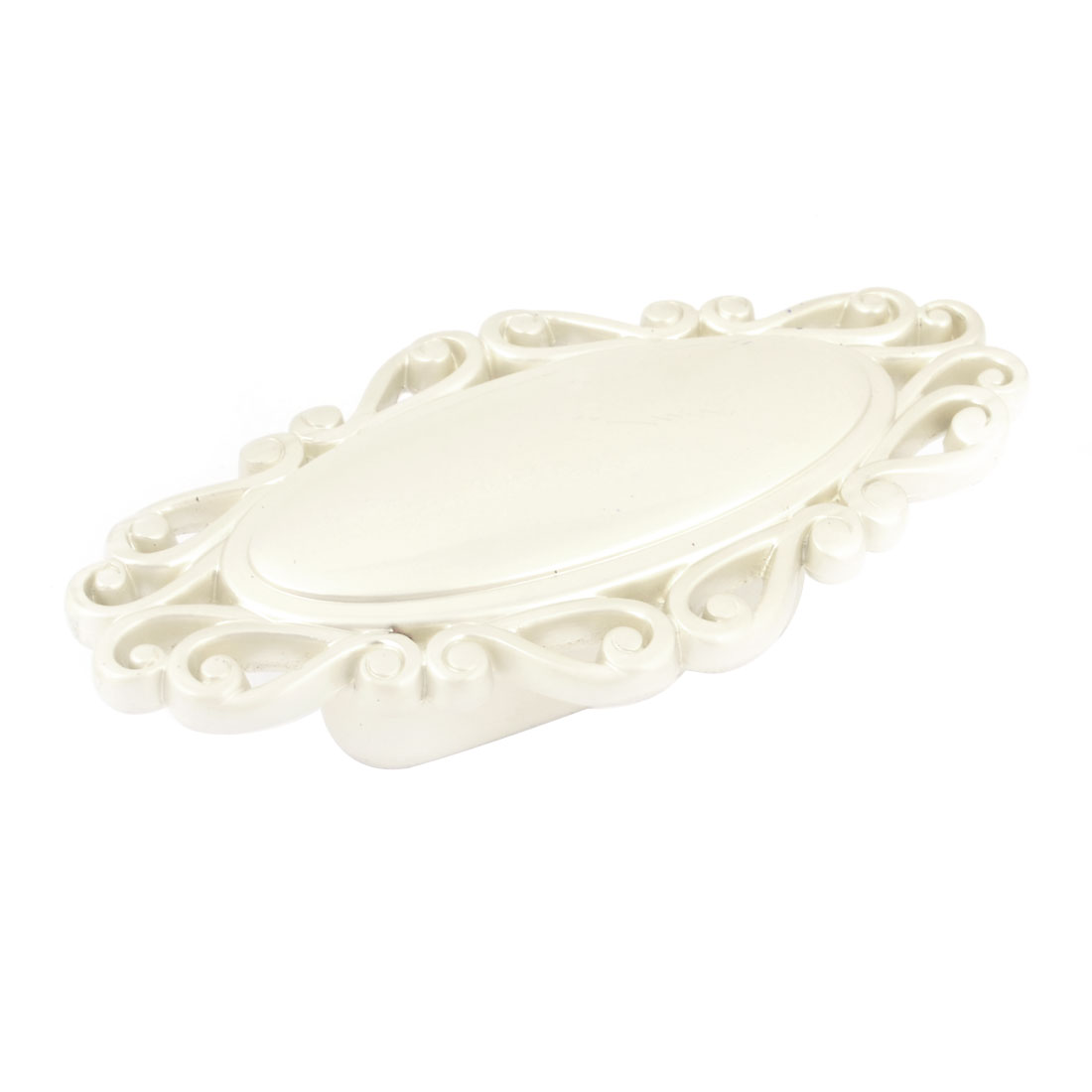 Flower Shaped Frame Ivory White Metal Drawer Door Pull Handle Knob 3.1""