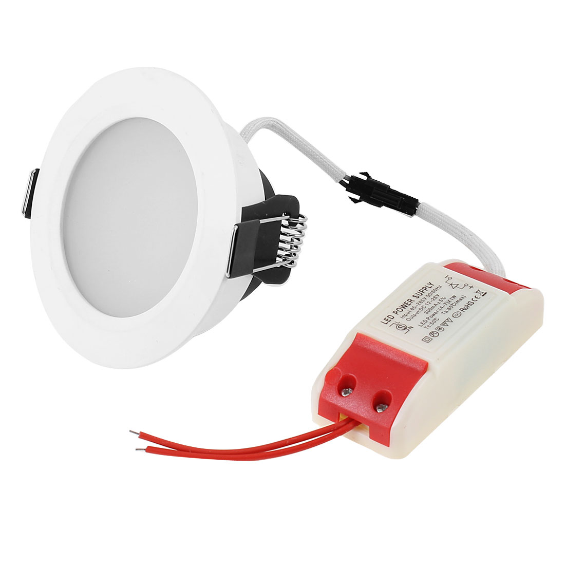AC 85-265V 5W Pure White Surface LED Panel Recessed Ceiling Light Downlight Bulb