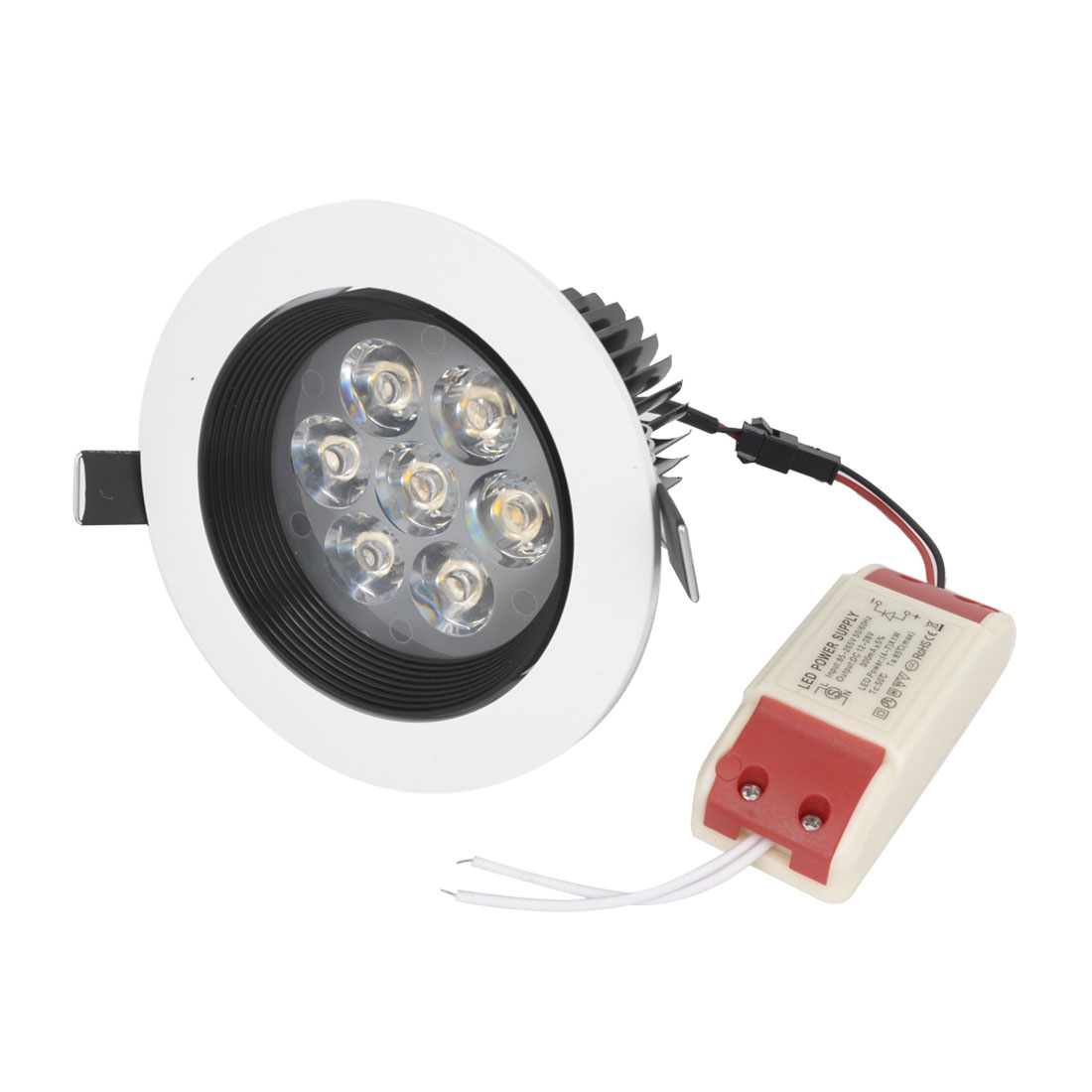 AC 85-265V 7W 7 LEDs Warm White LED Recessed Ceiling Down Light Lamp