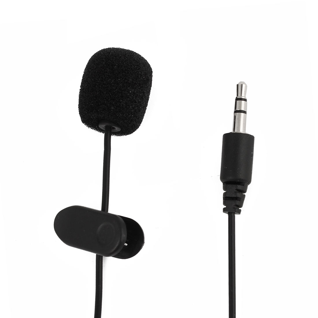Portable Flexible 3.5mm Connector Online Chatting Conference Microphone 1.5m Cable Black