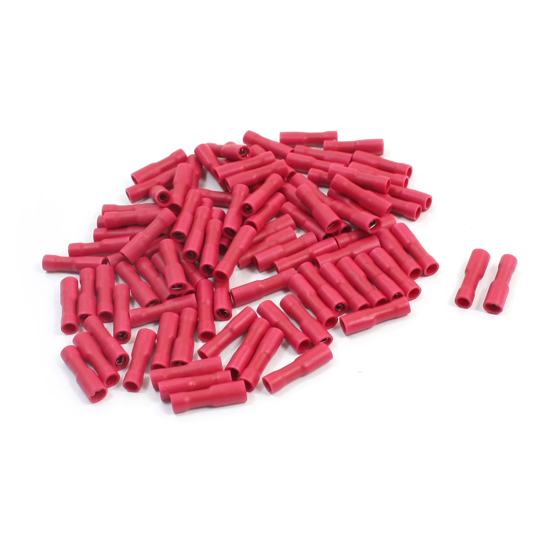 100pcs FDFD1-187 22-16AWG Wire Red Plastic Coated Spade Crimp Connector Insulated Terminal