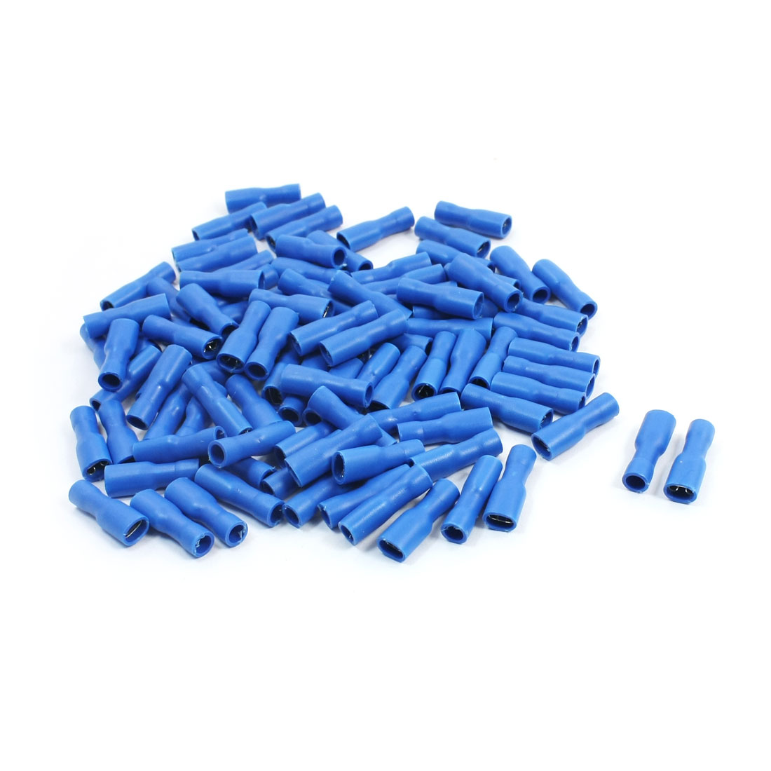 100Pcs FDFD2-187 16-14AWG 0.8 x 4.75mm Blue Plastic Shell Female Spade Connector Insulated Crimp Terminal