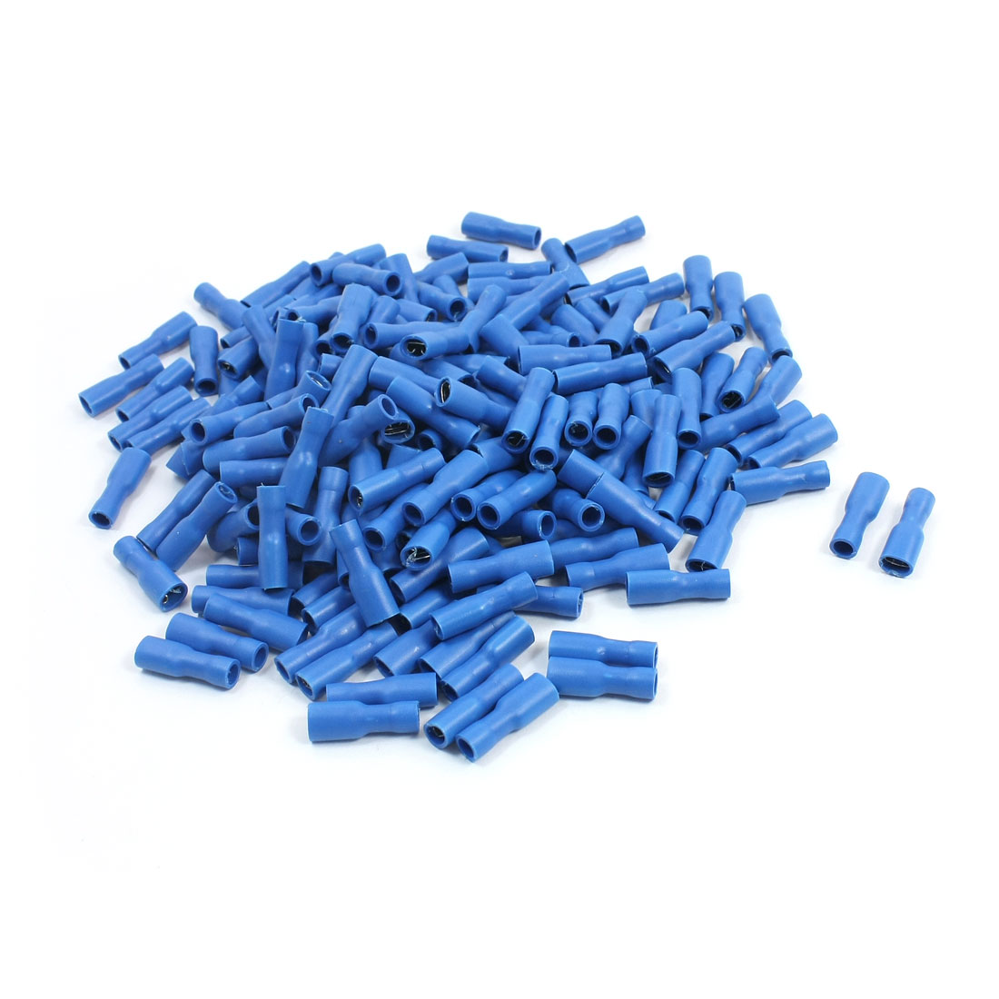 200pcs FDFD2-187 16-14AWG Wire Blue Plastic Housing Female Spade Connector Insulated Crimp Terminal
