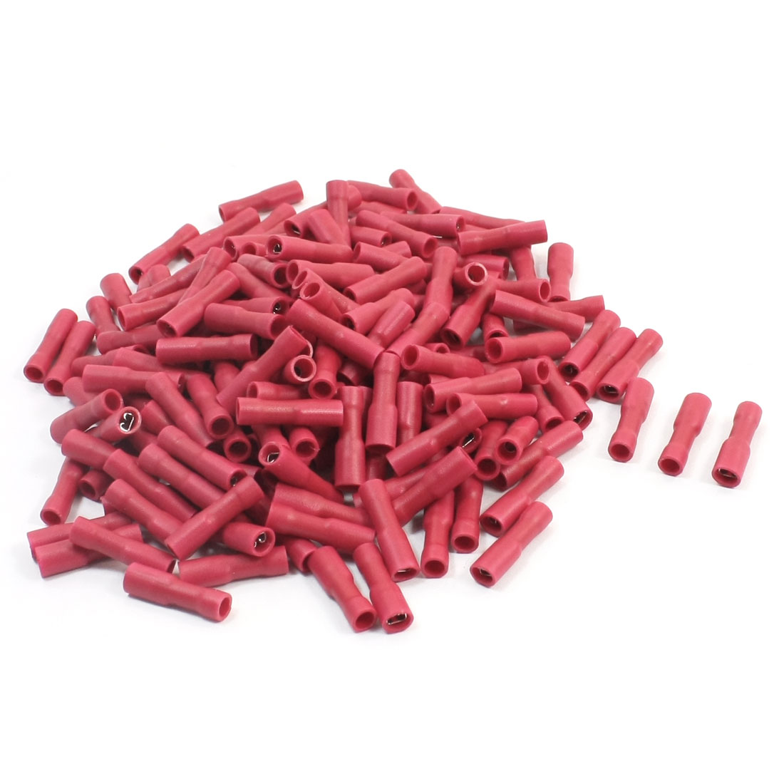 200 Pcs FDFD1-110 22-16AWG Wire Red Plastic Coated Female Spade Connector Insulated Crimp Terminal
