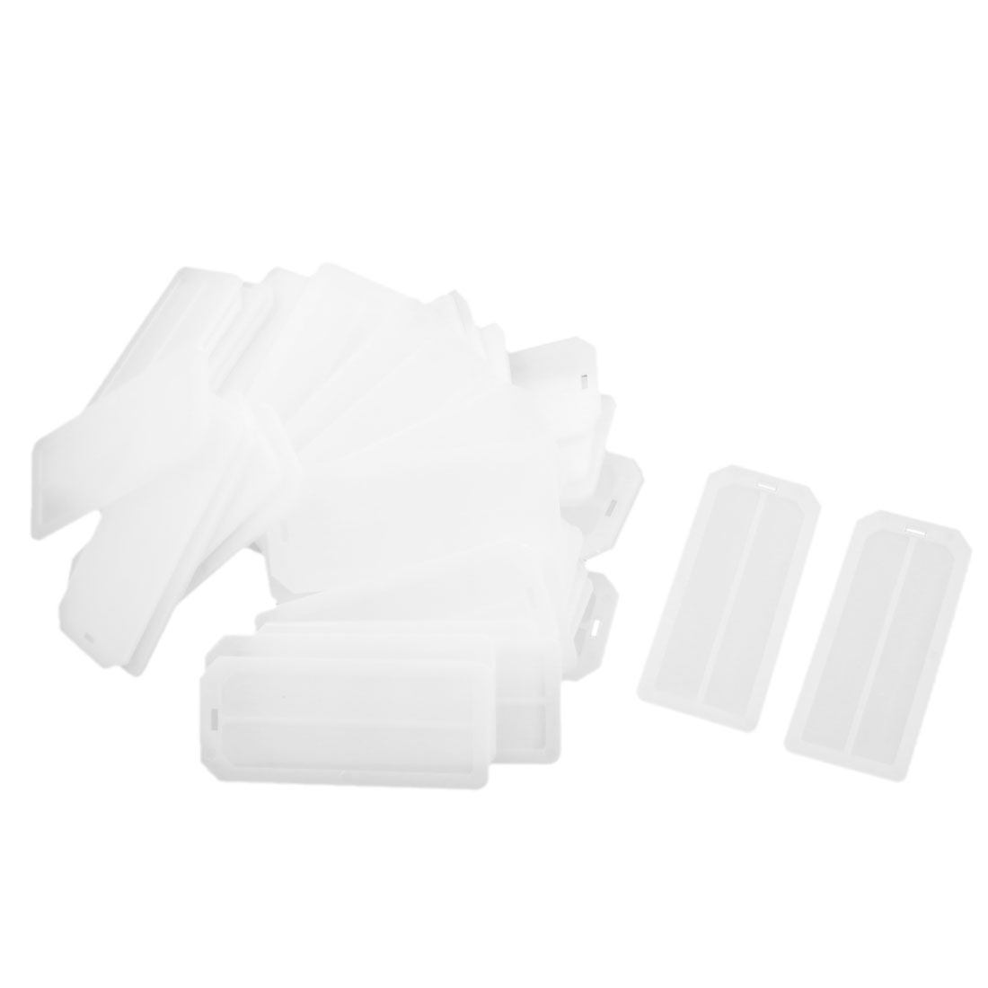 50 Pcs Rectangular White Plastic Blank Wire Cable Marker Plate Swing Tag Label Identifier 72mm x 31mm