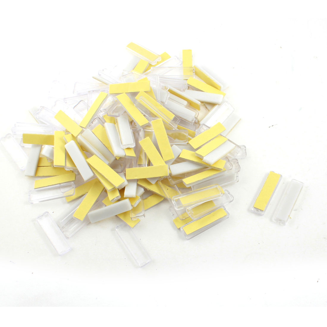 100Pcs 13x45mm Waterproof Self-adhesive Power Distributor Case Wire Cable Label Stick White Clear