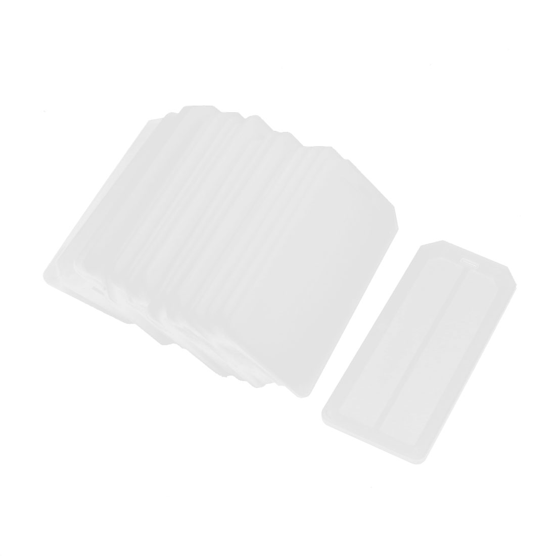 20pcs 72mm x 31mm Rectangle White Plastic Blank Hanging Cable Marker Plate Tag Label Identification