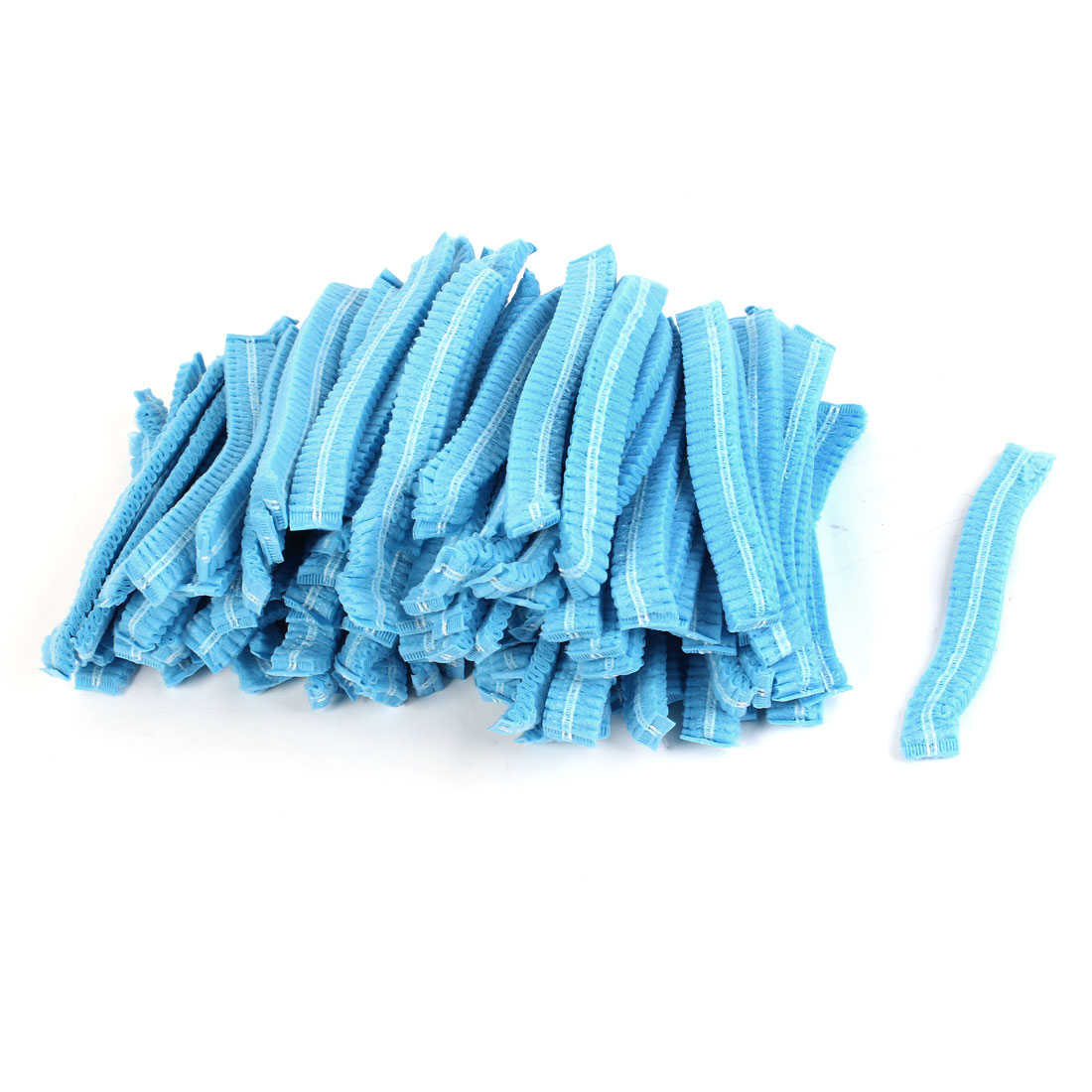 100Pcs Blue Non-woven Disposable Bouffant Pleated Anti Dust Hats