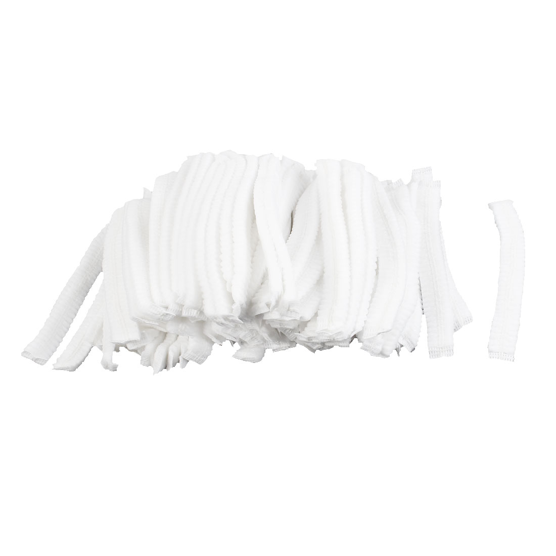 100Pcs White Non-woven Disposable Bouffant Pleated Nurse Anti Dust Dental Hats
