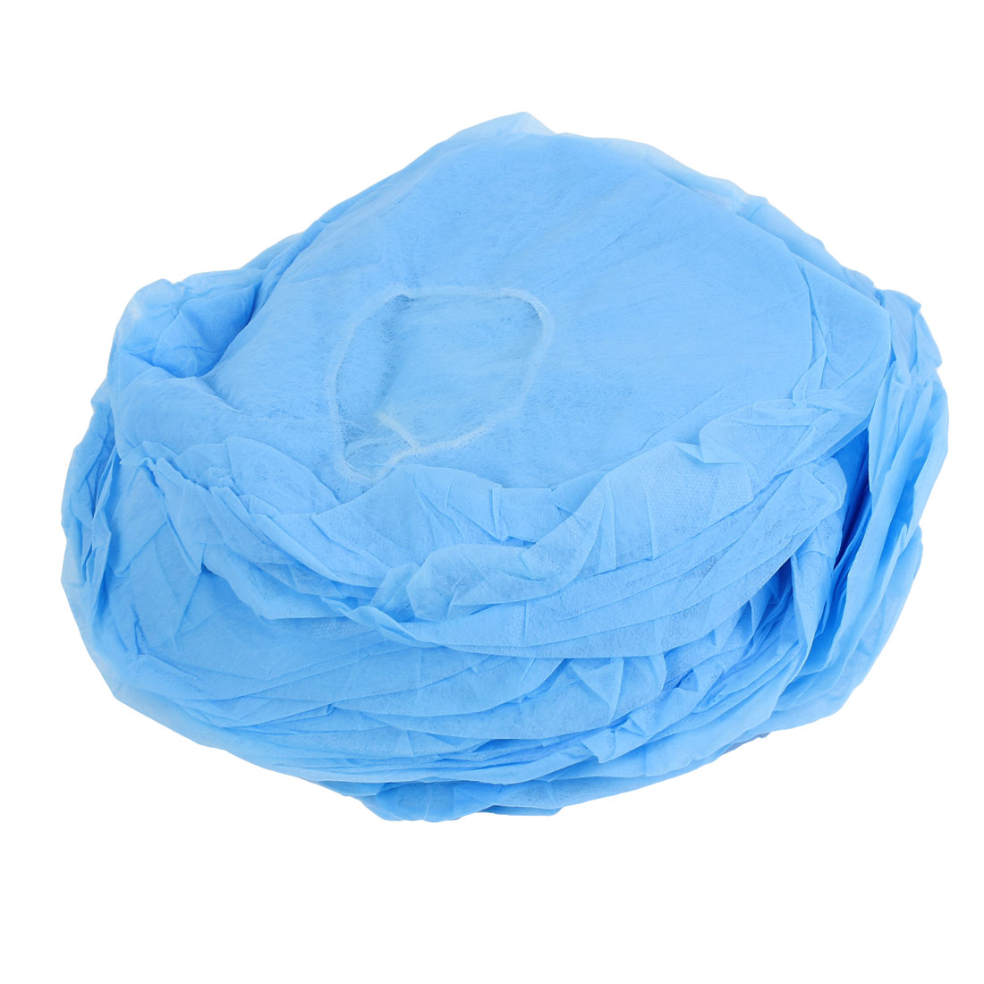 100Pcs Blue Stretchy Band Round Bouffant SPA Hair Salon Anti Dust Disposable Hat Cap