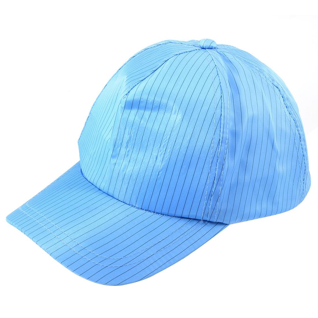 Unisex Cleanroom Blue Stripe Print Snapback Baseball Antistatic Cap Hat