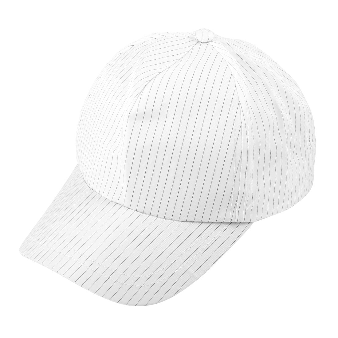 Unisex Cleanroom White Stripe Print Snapback Baseball Antistatic Cap Hat