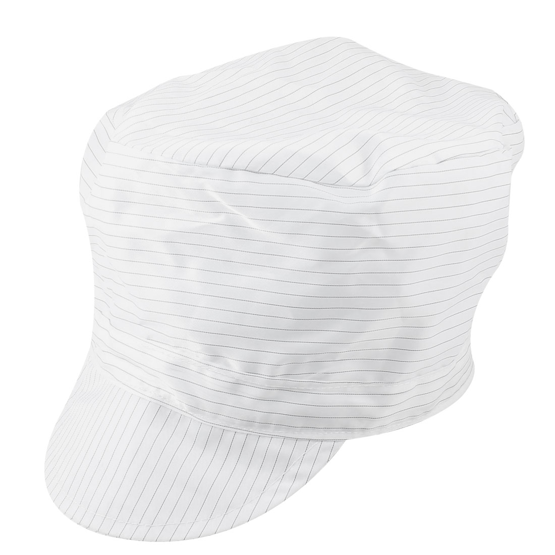 Reusable Cleanroom Hood Stripe Pattern Stretchy Round Anti-Static Cap Hat White