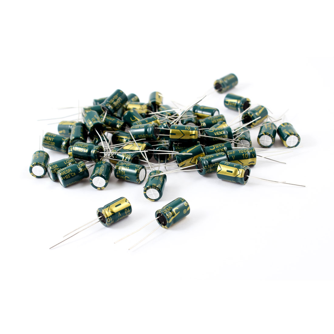 50 Pcs 1000uF 10V Radial Aluminnum Electrolytic Capacitors 8mm x 12mm