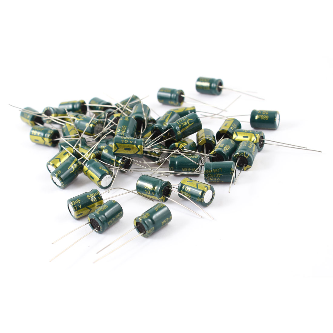 50 Pcs 8mmx12mm 680uF 10V 105C Radial Motherboard Electrolytic Capacitors Low ESR