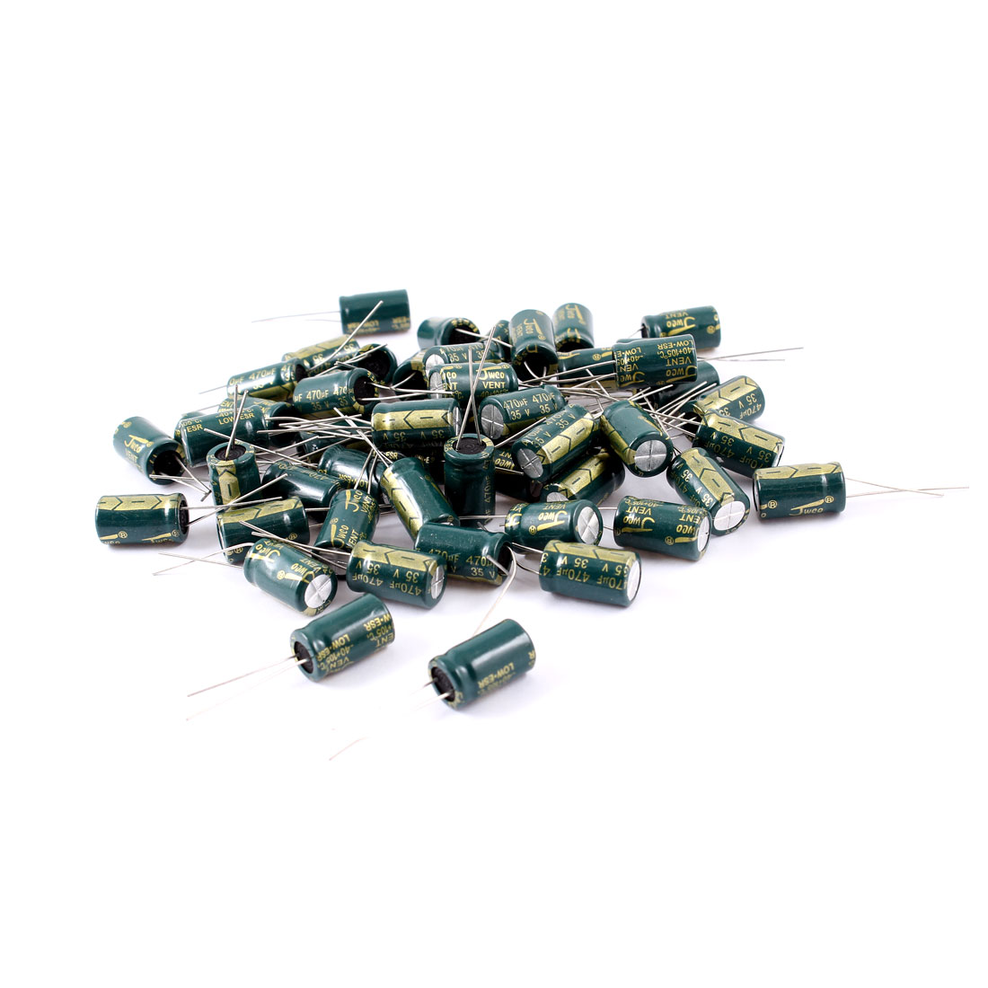 50 Pcs 470uF 35V Radial Motherboard Electrolytic Capacitors 10mmx17mm