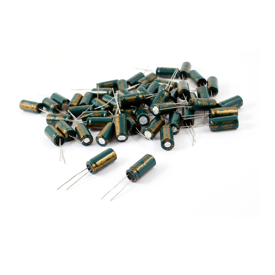 50 Pcs 100uF 100V Radial Motherboard Electrolytic Capacitors 10mmx21mm