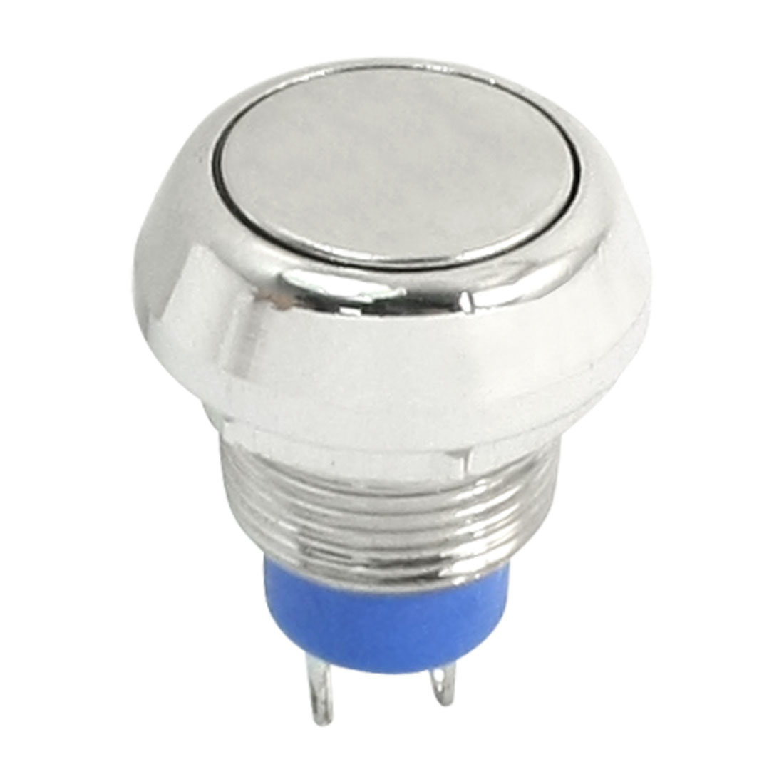 AC 250V 3A 2 Terminal SPST Momentary Stainless Steel Push Button Switch