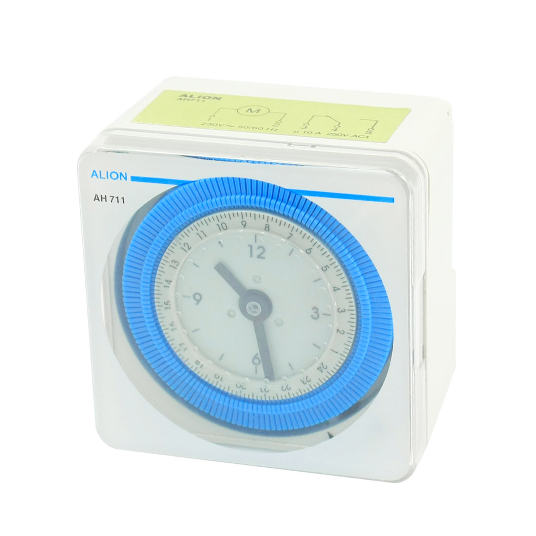 Square Plastic Shell AC 230V 24H Electric Timer Switch AH711