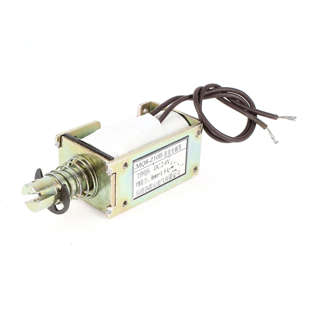 24V 0mm 1kg Push Pull Type Open Frame Spring Plunger Linear Motion DC Solenoid Electromagnet