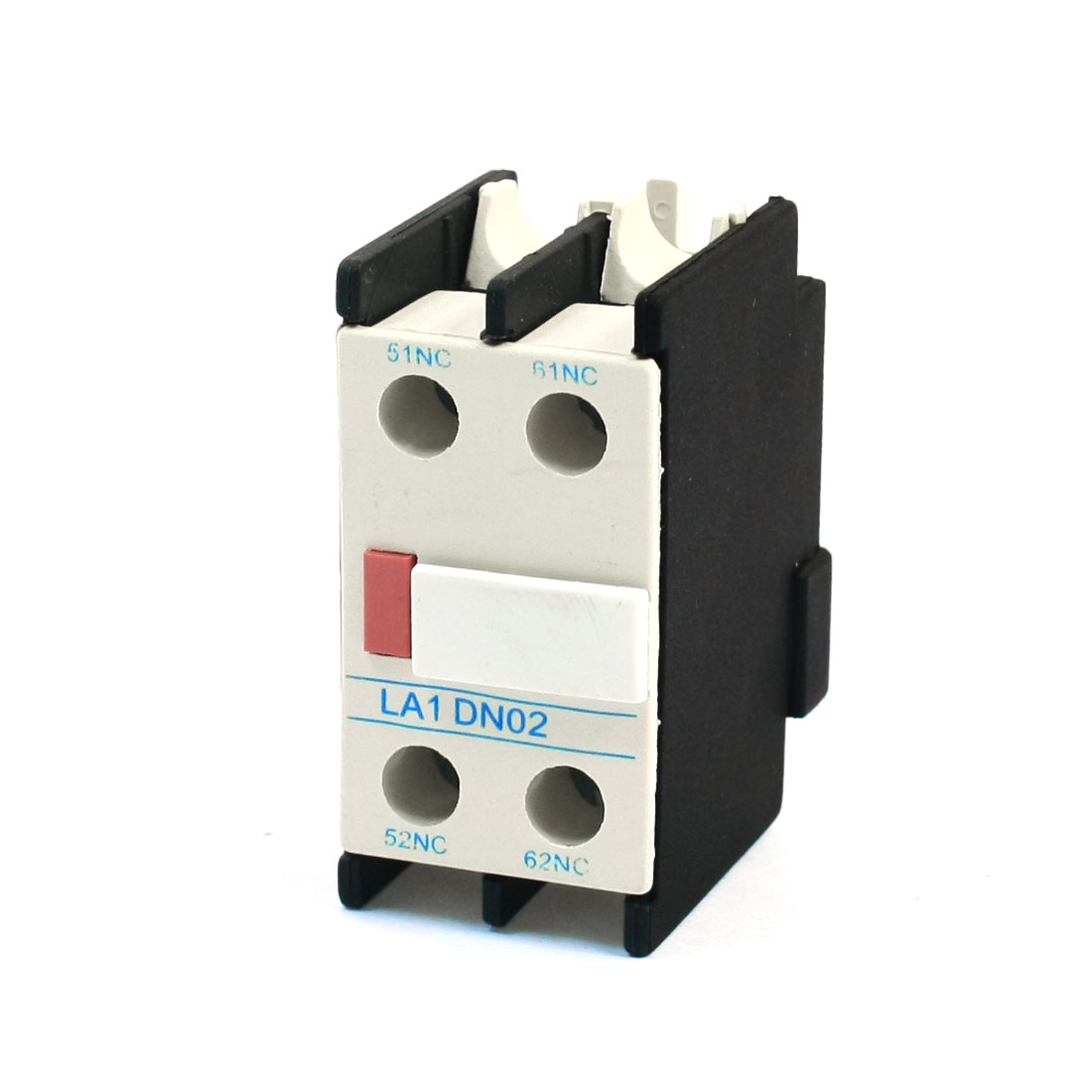 LA1-DN02 Ui 690V Ith 10A 2NC 4 Screw Terminal Circuit Protective AC Electric Contactor Auxiliary Contact Block