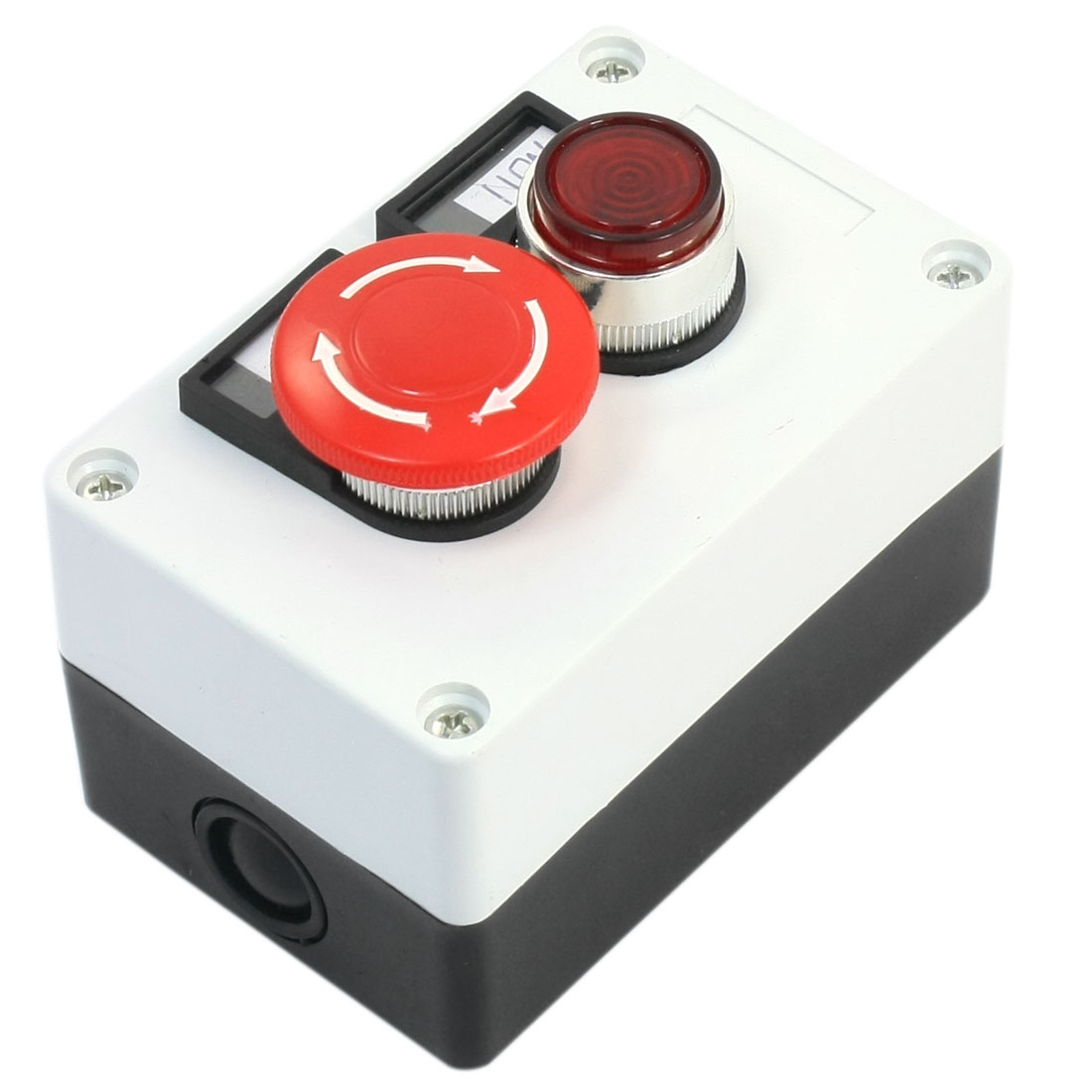 Red Mushroom Latching Emergency Stop Push Button Switch NO NC 2 in 1