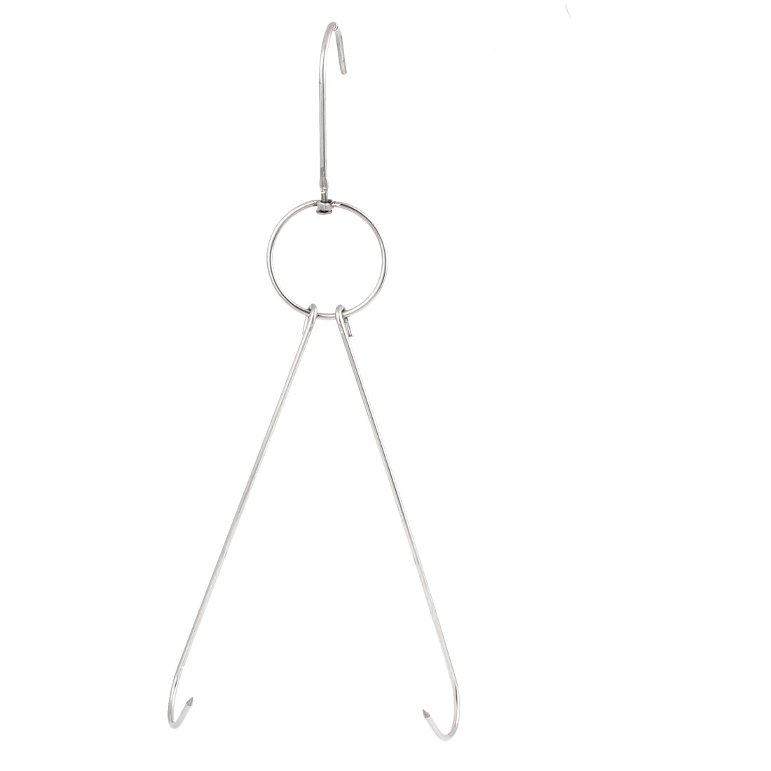 Silver Tone Metal Double Hooks Kitchenware Hanging Hook Hanger