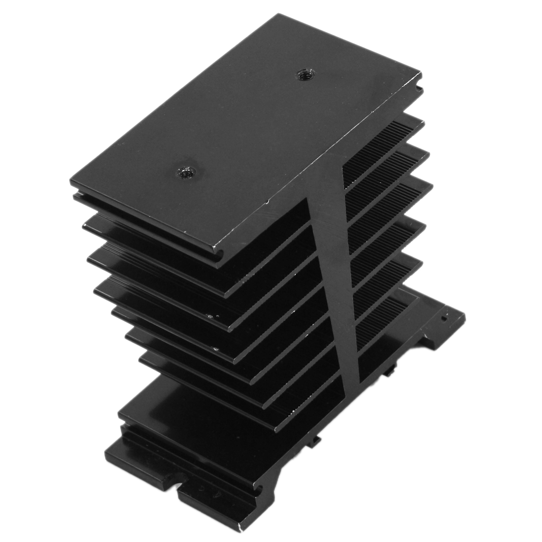 95mm x 50mm x 100mm 8 Layers Black Aluminium Solid State Relay Heatsink Heat Diffuse Dissipation Cooler Fin