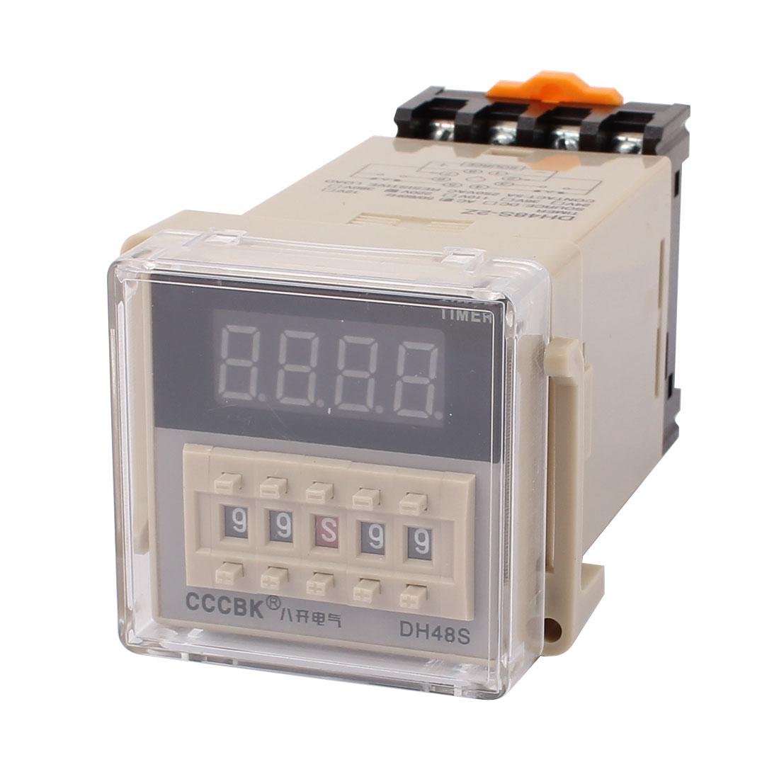 DH48S-2Z AC 220V 0.01s-99H99M Adjustable Timer Control Programe w Base Socket