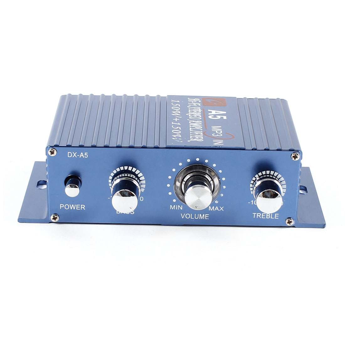150W x 2 3.5mm MP3 Port Cat Vehicle Stereo Audio Amplifier Blue
