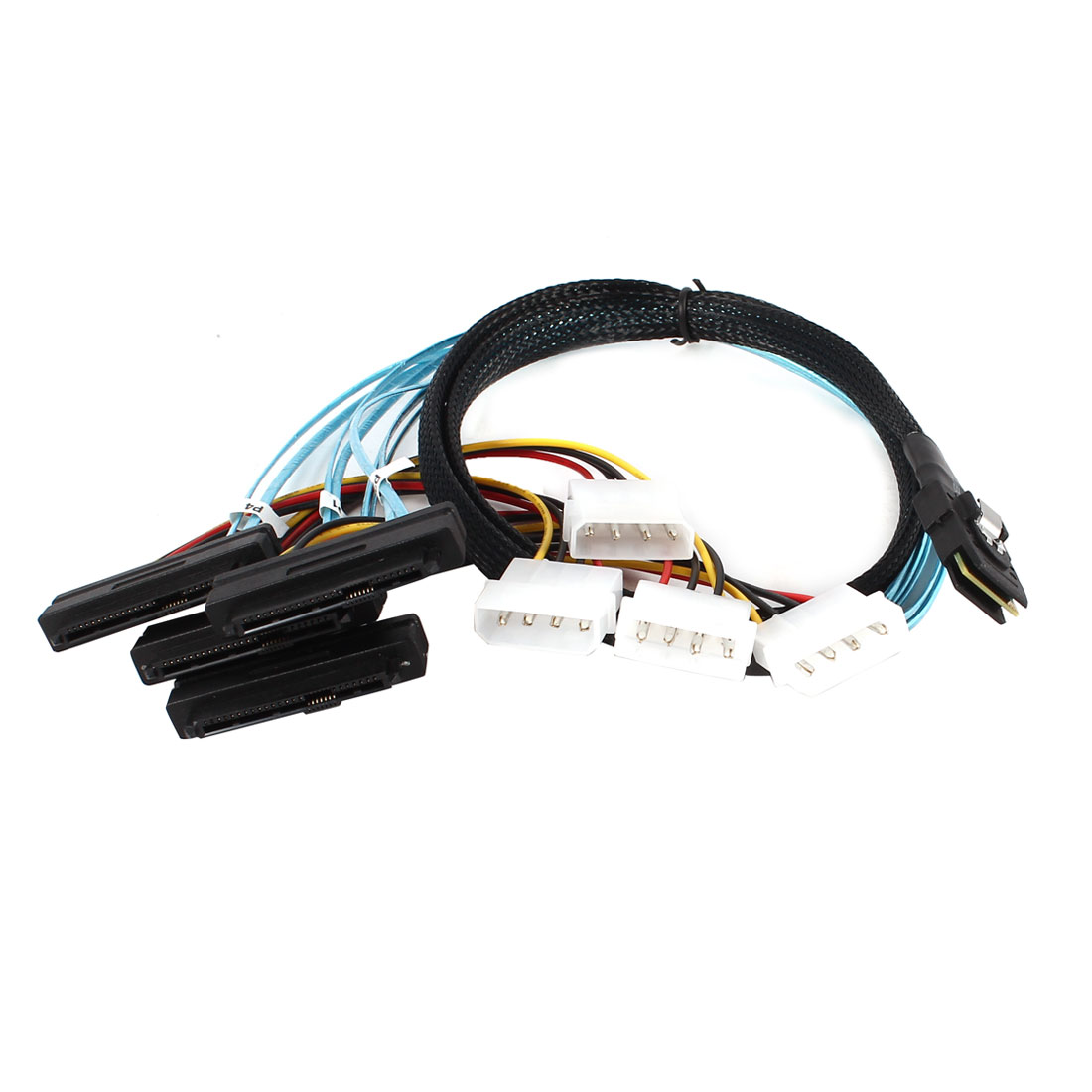 1M 3.3Feet Mini SAS 36Pin Male to SAS 29pin Female + IDE 4pin Male Adapter Cable
