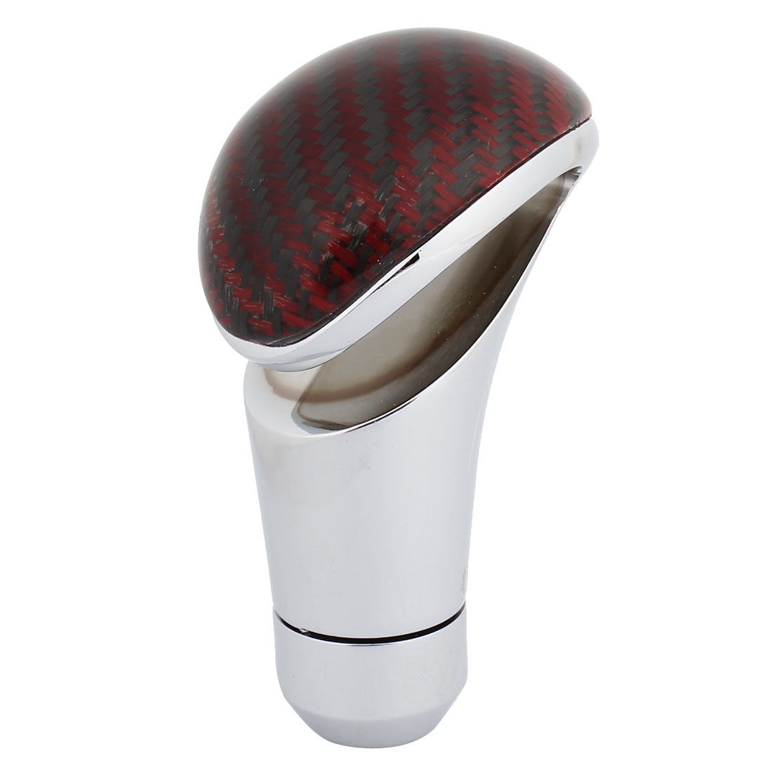 Black Red Metal Fiber Carbon Pattern Manual Stick Gear Shift Knob for Auto Car
