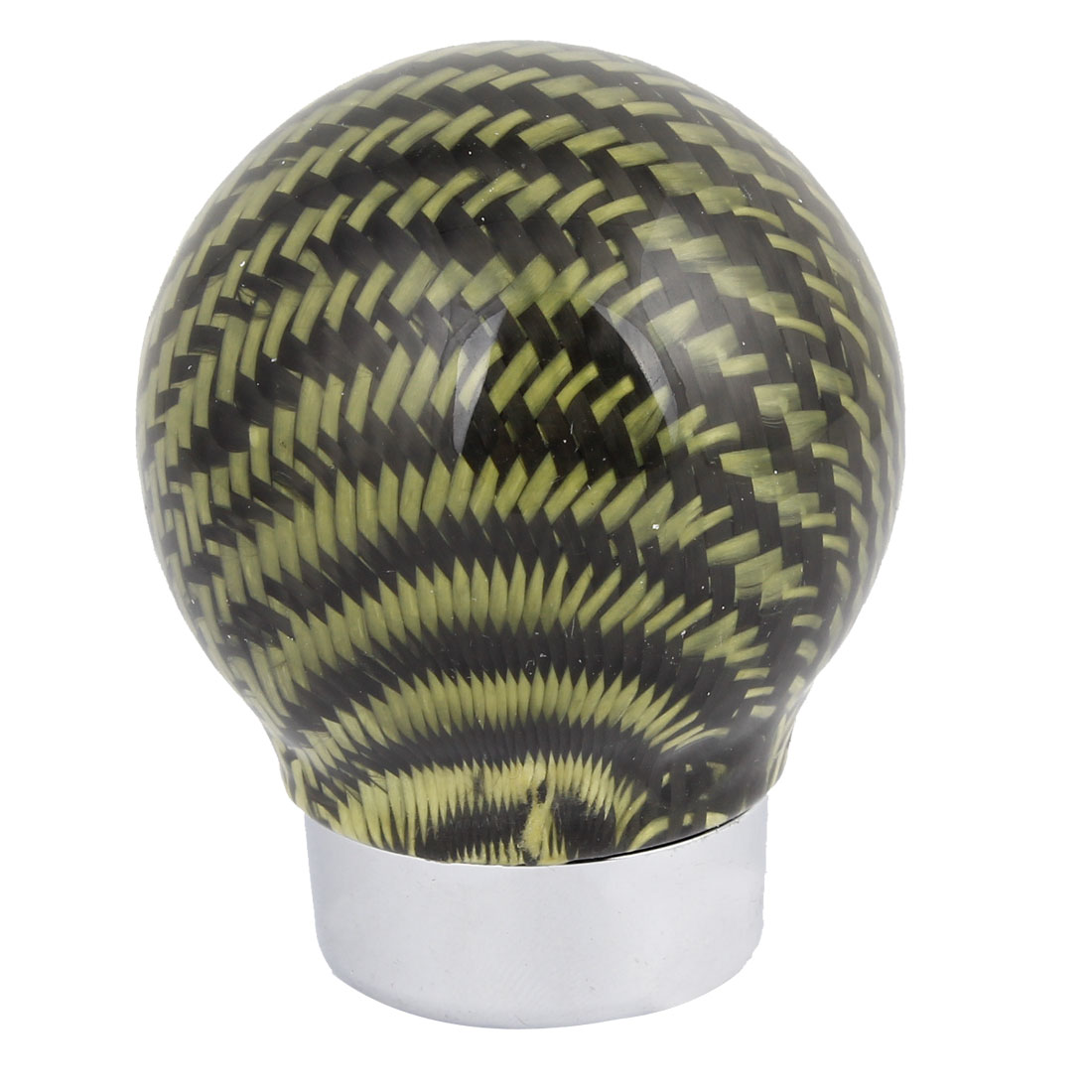 15mm Dia Hole Green Fiber Carbon Pattern Truck Motor Gear Shift Knob Cover
