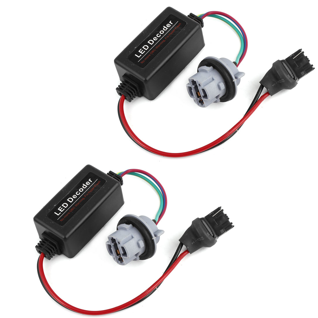 2 Pcs Car 7740 Light Socket Warning Canceller No Error Load Resistor Decoder Adapter Wire