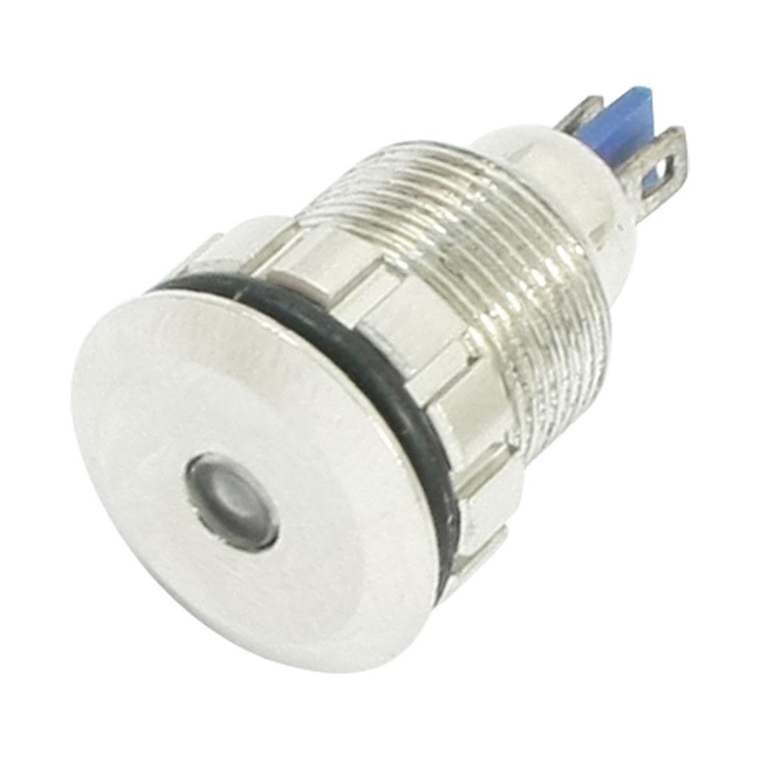 Car DC 12V 12mm Thread Seven Color Signal Indicator Pilot Light